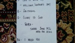 Worship Set List for 6/27/2010
